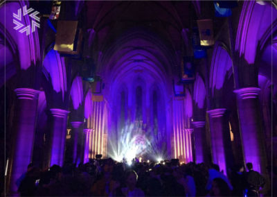 Entrust Gold for events with the organisation of an atypical event in the Cathedral.